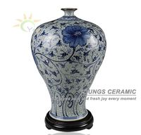 Special jingdezhen crackle blue and white ceramic flower vase for home decoration