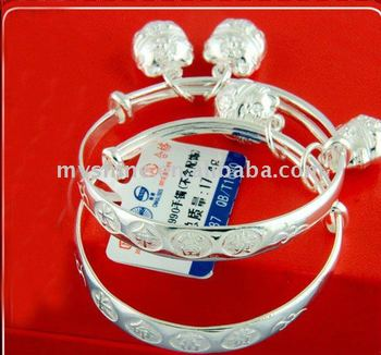 Chinese Sweety Silver Baby Baptism Bracelet Bangle Buy Silver Baby