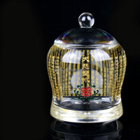Manufacture sale polished cheap crystal bowls for Buddhist temple offerings crystal glass singing bowl