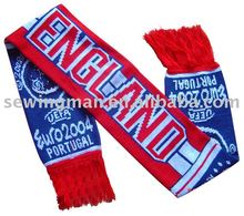 Custom Made English National Flag knitted football scarf soccer scarf