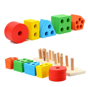 Best sale educational toys colorful wooden magnetic building blocks learning toys