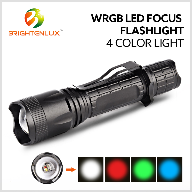 Factory Supply High Power 10w Long Range Beam Water Resistant Outdoor Color Changing Hunting led Red Green White Flashlight