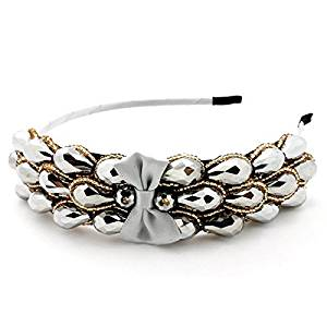 Smile Elegant Sharp Bowknot Women Girl Crystal Rhinestone Headband Hair Wear Hair Band PL88