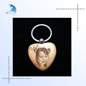 Decorative Custom Unique Shaped Promotional & Wholesale Luxury Corporate Fancy Glossy Wooden Printed Photo Keychains Gift