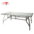Outdoor Garden Patio Balcony Metal Tempered Glass Rectangle Dining Table
