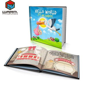 Book Plus Toy cheap child hardcover book Hardcover Story Book For Kid