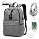 OEM factory directly wholesale low MOQ plain backpack grey European travel school laptop backpack