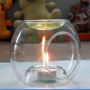 glass aroma burner use tea light
