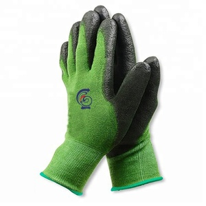 13 g bamboo fiber PU coated soft garden gloves