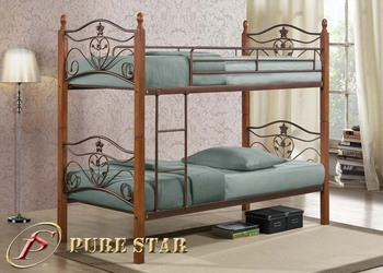 Malaysia Metal Bunk Bed With Wooden Legs Buy Metal And Wood Double