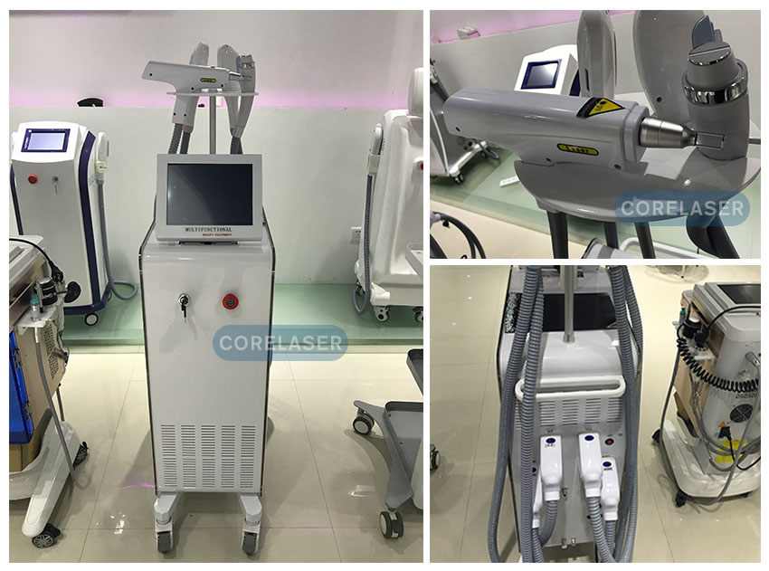 Professional 2 handpiece pain free hair removal SHR ipl machine