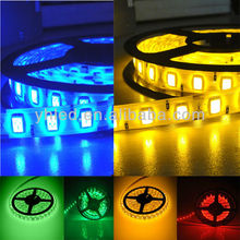 IP67 high quality smd 5060 12v rgb led strip light 5m copper weather stripping
