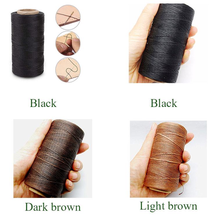 Groothandel beste prijs kwaliteit polyester gevlochten gewaxt draad voor naaigaren 1.4mm Accepteren kleine bestelling