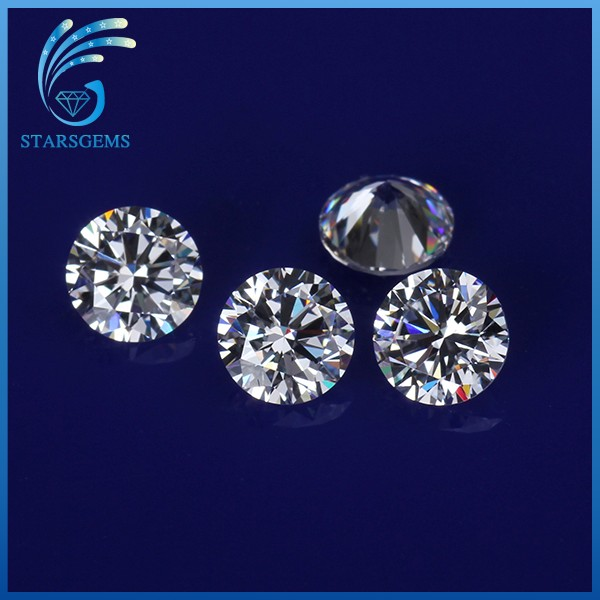 China Supplier Wholesale High Quality Various Sizes Clear White CZ Loose Gemstones