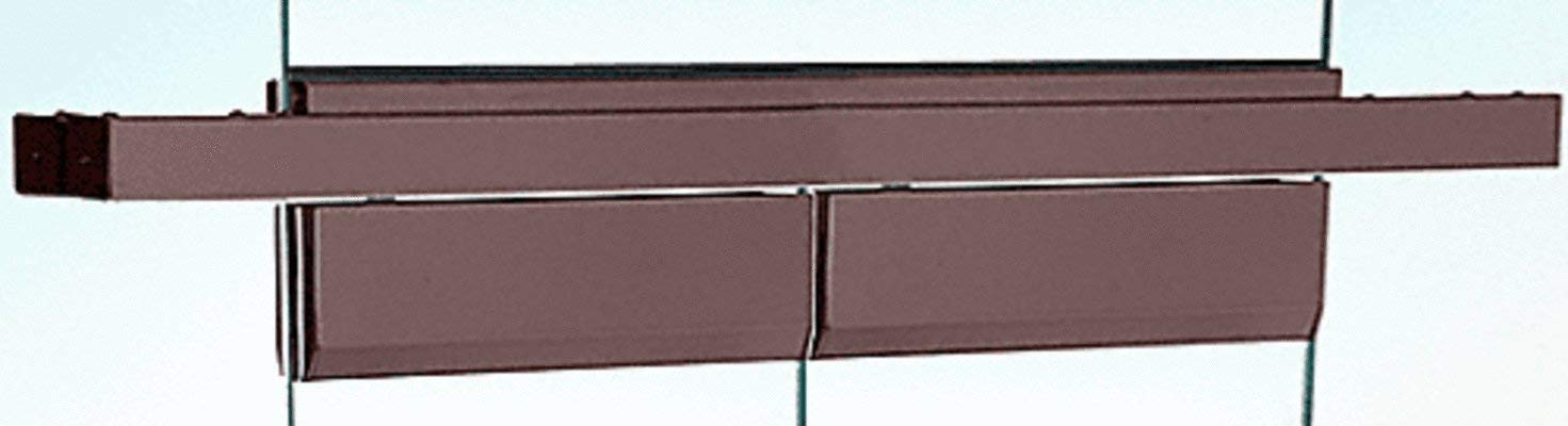 "CRL Black Bronze Anodized Double Floating Header for Overhead Concealed Door Closers - for 72"" Wide Opening"