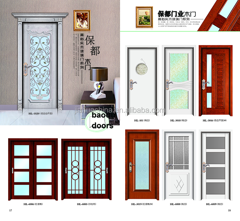 Modern Door Design Interior Wood Engraved Door Panel Inserts For House