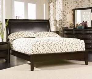 Cappuccino Platform King Size Bed