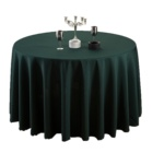 Fancy recyclable polyester 108 inch round dark green table cloth