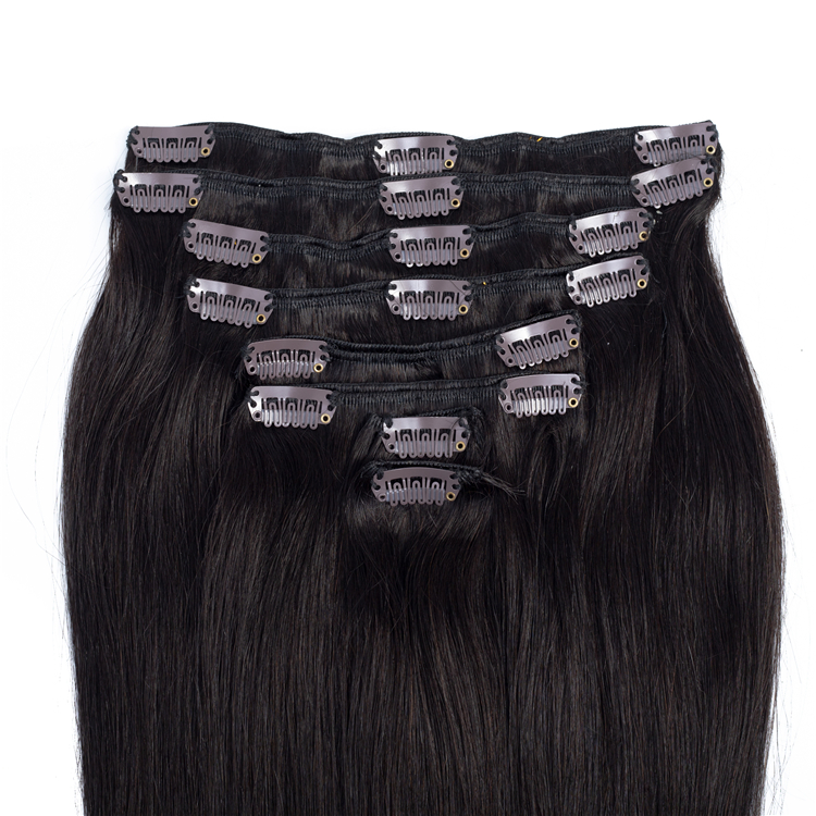 Wholesale Customization Available Remy 100% Human Hair Extension Clip on