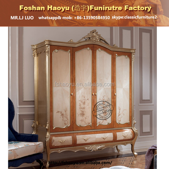 Elegant White Colour Design Bedroom Wardrobes Wooden Almirah - Wooden almirah designs for bedroom