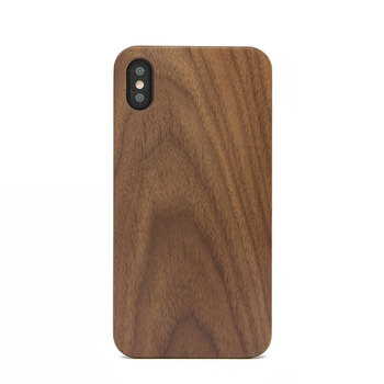 Fashion Eco-friengly Real Blank Walnut Wood Phone Case for Iphone X XR XS Max
