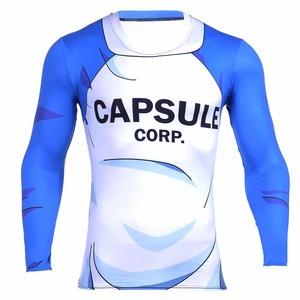 Digital Printed Plus Size custom capsule corp working long sleeve Mens Tshirts