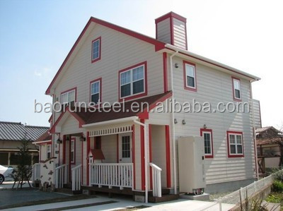 Luxury Villa, Portable Light Steel Frame Houses With Weather Board Decoration