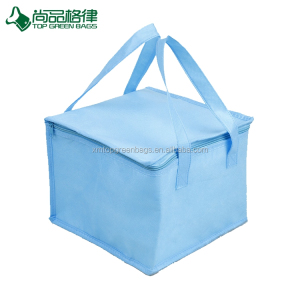 custom non woven thermal frozen food lunch insulated tote Insulated seafood 6 pack cooler bag
