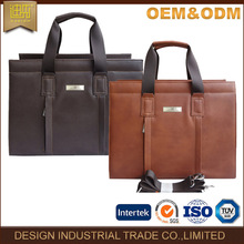 2017 factory new style fashion casual men tote leather executive briefcase
