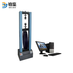 Compression deformation tester for plastic pipe