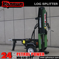 Made in China special desig Honda Lifan gasoline type mobile 24 tonne gas motor wood splitter