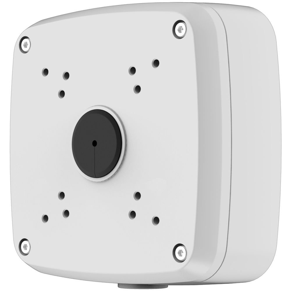 Dahua PFA121 Aluminum Junction Box, Applicable to Bracket- CA-FW[I], HAC-HFW[E], HAC-HDW[M], IPC-HFW[E], PFB120W, PFB121W, 134mm x 134mm x 55mm