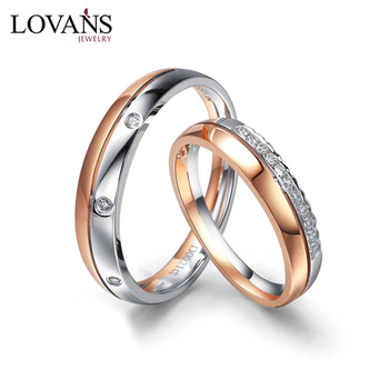 New Product 925 Silver Diamond Wedding Ring Sets For Couple Buy