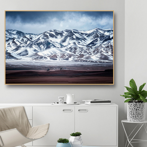 3D Hd The Snow Mountain Scenery Pictures Printing Canvas Wall Art