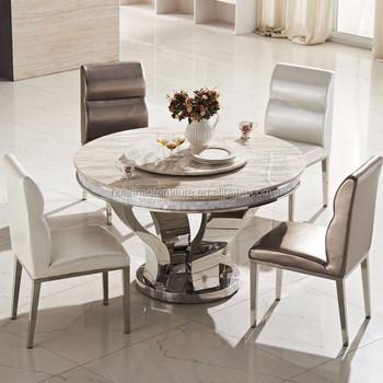 Wholesale Latest Modern Design Korean Marble Top Round Dining