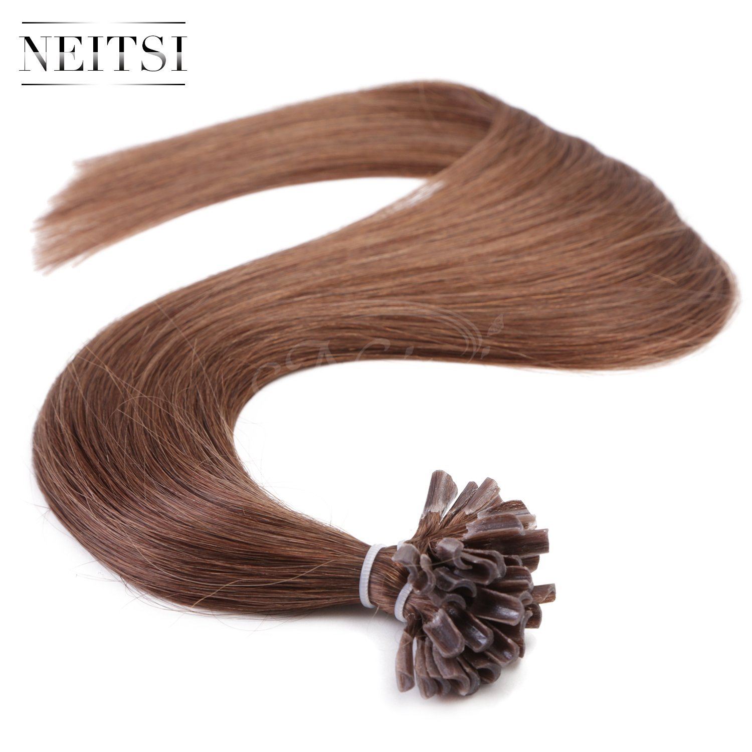 "Neitsi 20"" 25s/lot 1g/s 100% Remy Human Hair Nail U Tip Hair Extension (6#)"