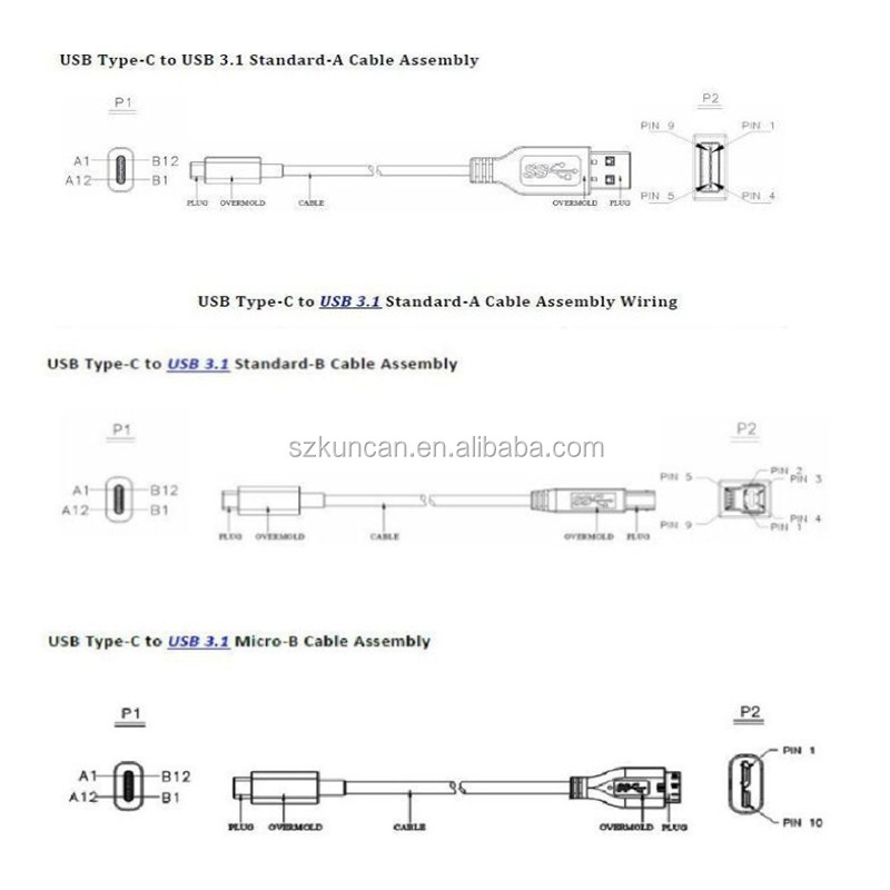 usb type c to usb 3.0 a male cable usb 3.1 type c cable support, Wiring diagram