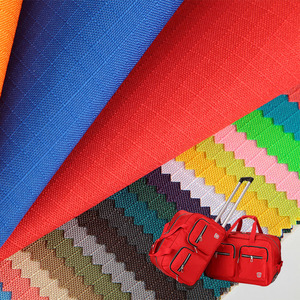 100% polyester ripstop waterproof 5mm grid 300D oxford fabric with PU coating for bag/backpack/luggage