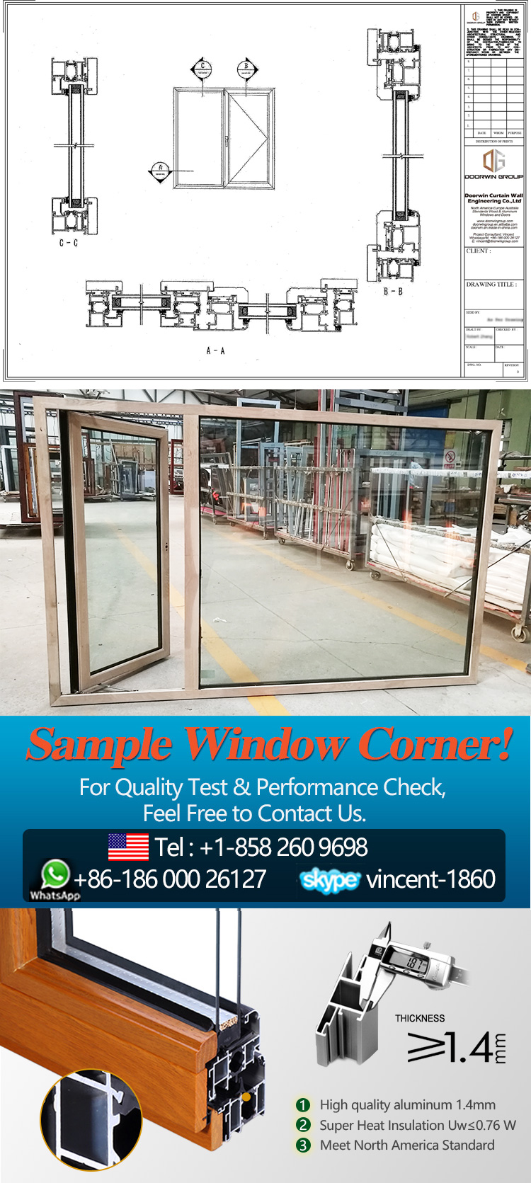 Cheap Factory Price windows that open out from bottom