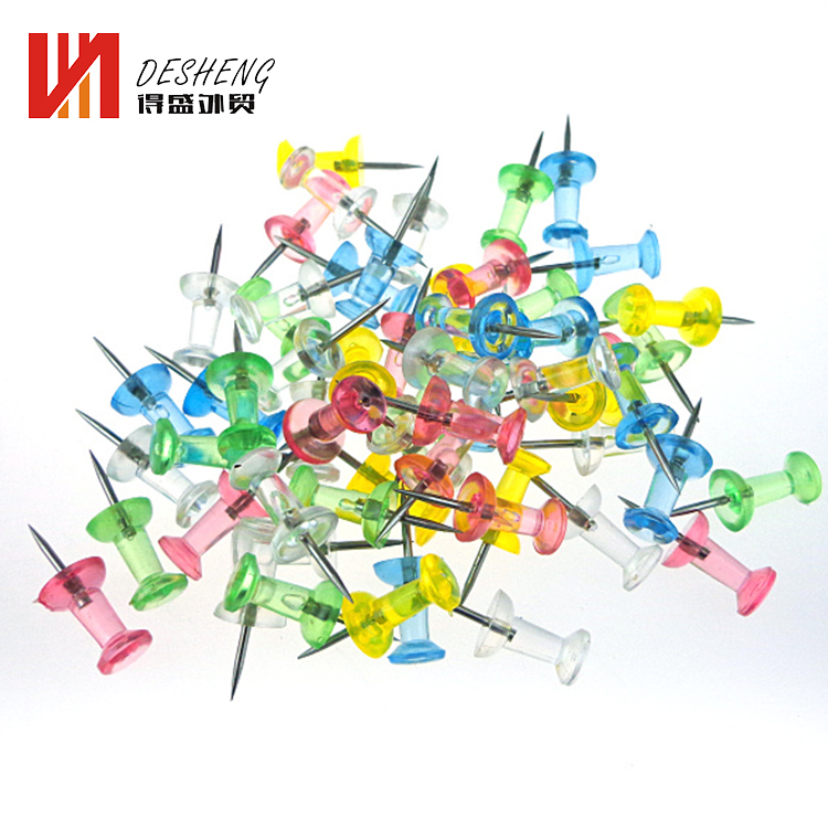 Plastic head kaart push pins