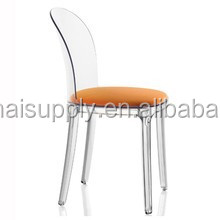 Transparent Acrylic Dining Chair With Cushion