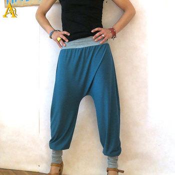 Baggy Joggingbroek.Comfortabele Harembroek Vrouwen Blauw Baggy Joggingbroek Buy