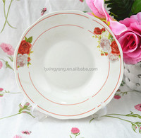 White flat paper plate with good quality,restaurant ceramic plates dishes,custom made dinner plates