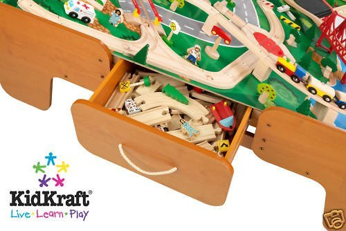 Buy KidKraft 17850 Waterfall Mountain Train Set and Table ...