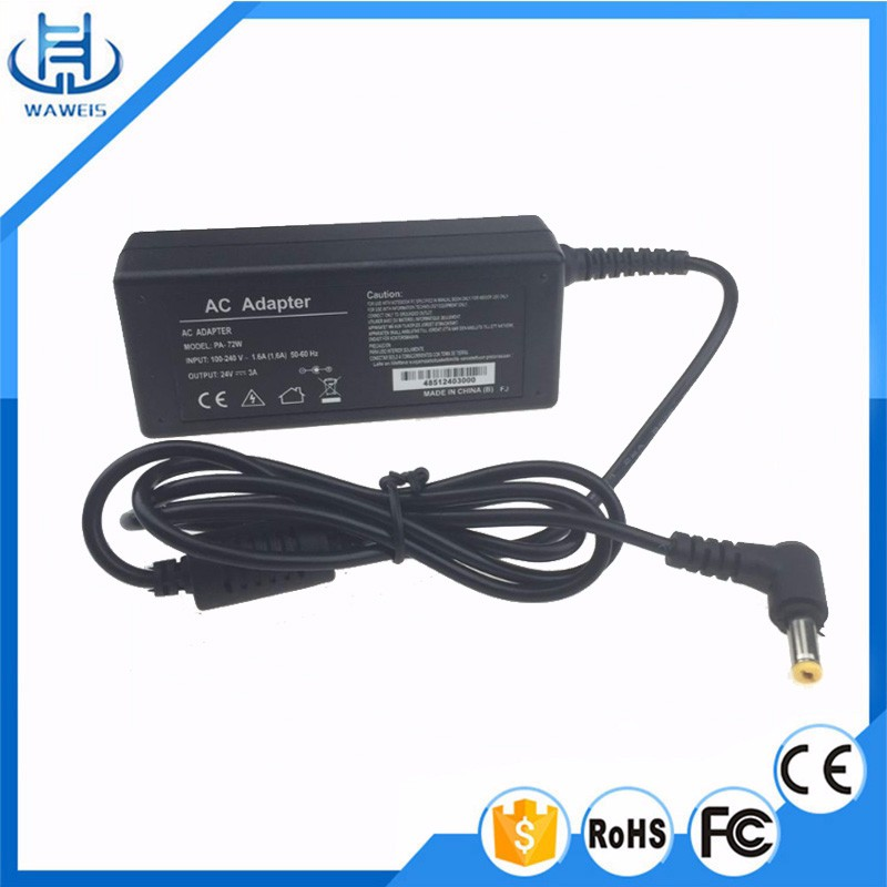 24v 2.3a ac dc Power Adapter for Netbook,LCD Monitor,CCTV Camera