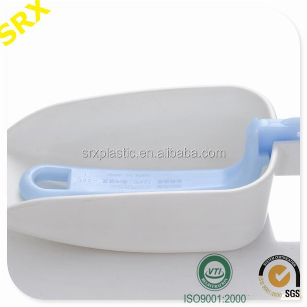FAD & SGS Buffet kitchen utensils plastic folding ice scoops/customize folding ice scoop/makde your own plastic ice bar scoops