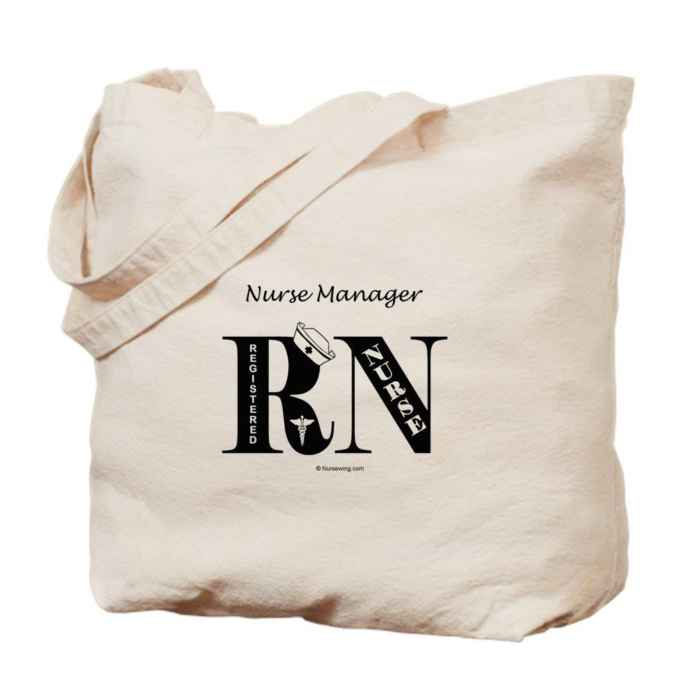 CafePress - Nurse Manager Tote Bag BL - Natural Canvas Tote Bag, Cloth Shopping Bag