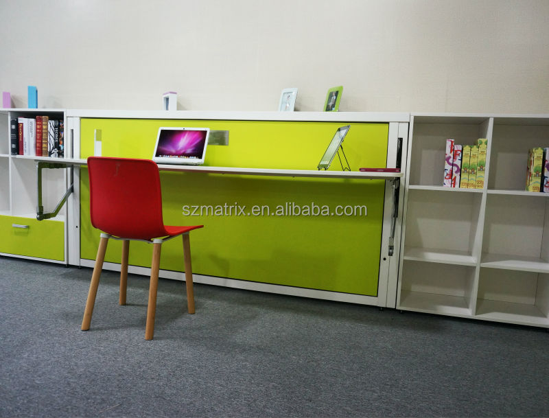 Fold Away Bed Transformable Wall With Study Table