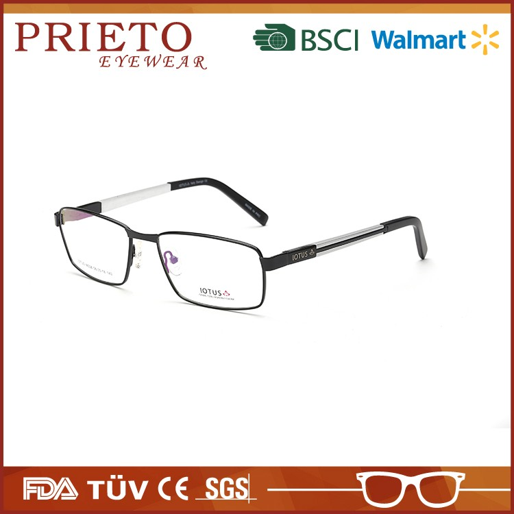 PRIETO eyewear Wholesale Eyeglasses Frame New Italy Designer Vintage Style Prescription Metal Optical Eyeglasses Frame For Mens