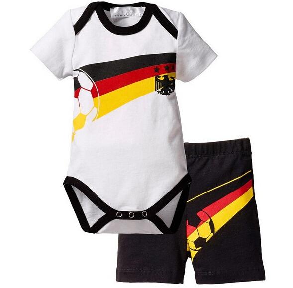 599cba10d Buy Football Baby Sports Suit 2 Pieces Set Romper + Shorts Newborn ...